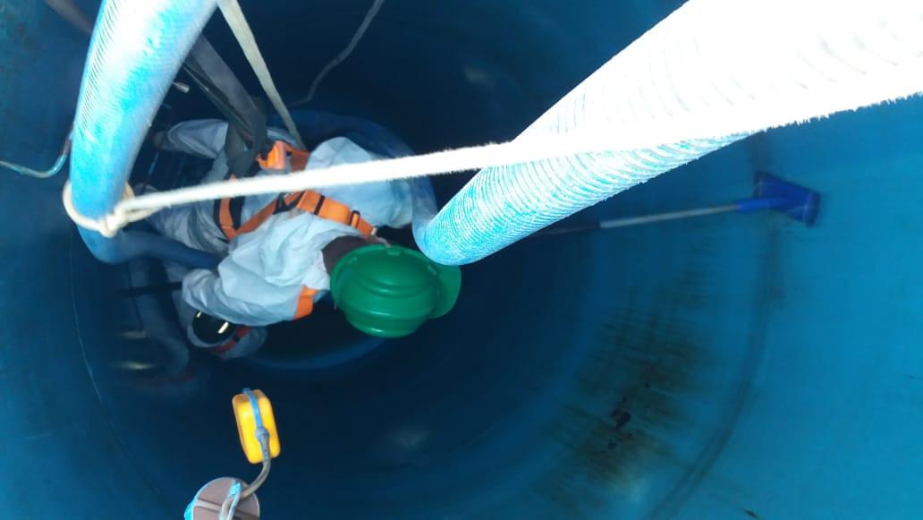 Limpeza reservatórios de água