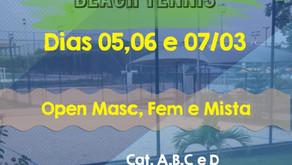 Tem torneio de BEACH TENNIS rolando aqui no clube