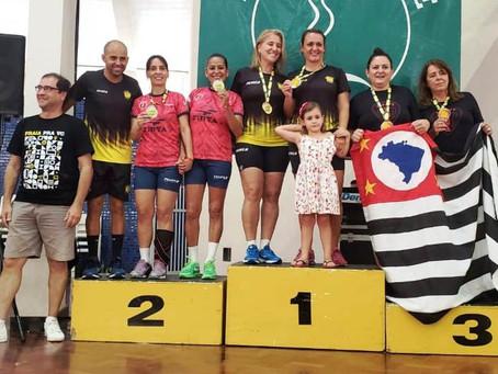 Dupla feminina do Max Min é campeã brasileira de Peteca em Uberlândia