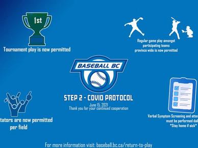 BC Baseball, Welcome to Step 2 - COVID Protocol