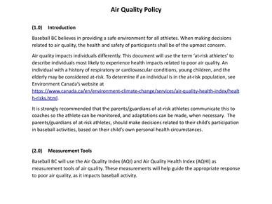 BC Air Quality