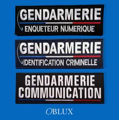 OBLUX | DOSSARD | BRODÉS | GEND-ENUM / GEND-IDCR / GEND-COM