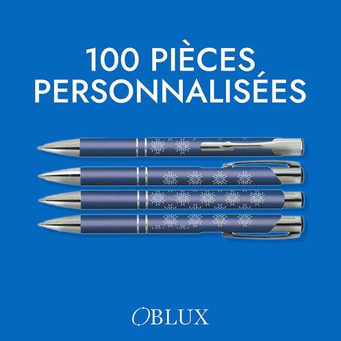 OBLUX | STYLO BILLE PAR 100 PIÈCES
