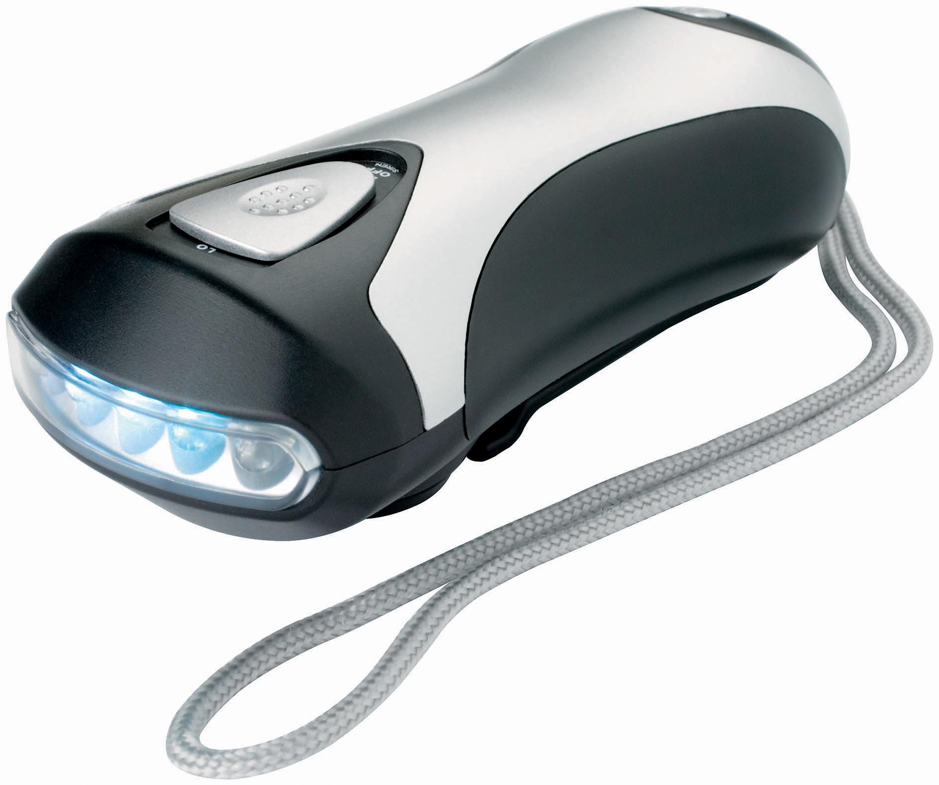 Lampe Torche Dynamo 3 LED Sans Piles Rechargeable