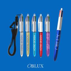 OBLUX | STYLOS PLASTIQUES | BIC 4 COULEURS - SHINE