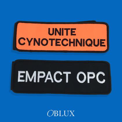 OBLUX | BRASSARD | UNITÉ CYNOTECHNIQUE / EMPACT OPC