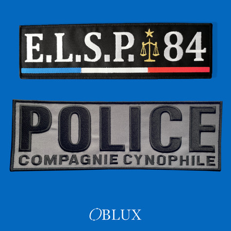 OBLUX | DOSSARD | BRODÉS | ELSP 84 / POLICE COMPAGNIE CYNOPHILE