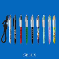 OBLUX | STYLOS PLASTIQUES | BIC 4 COULEURS - MAT
