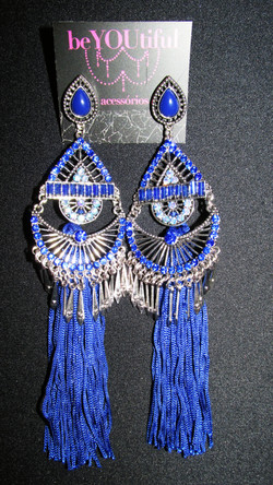 Brinco Treasure Azul Royal