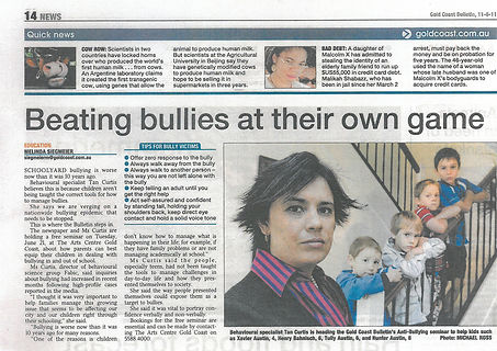 Tanya Curtis' article in the June 2011 Gold Coast Bulletin