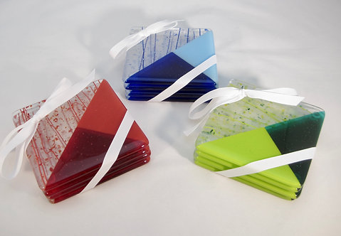 Fused Glass Coasters by Kristin Anderson