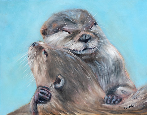 You're My Significant Otter, print or card by Claudia Ignatieff