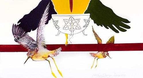 Original Watercolor, Strained Relationships by Kathryn Damon-Dawson