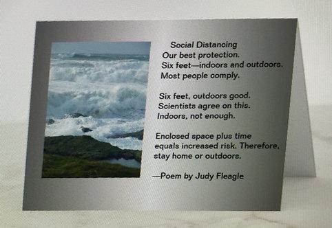 Social Distancing, Haiku card, by Judy Fleagle