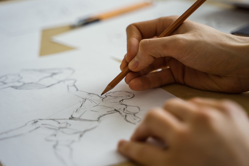 Drawing the human figure with a pencil. Sketching.jpg