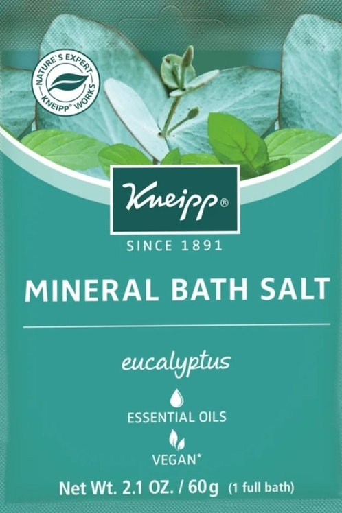 Mineral Bath Salt: Single Use, Eucalyptus