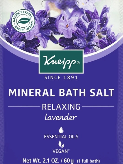 Mineral Bath Salt: Single Use, Lavender