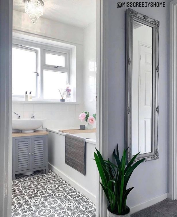 bathroom make over instagram budget DIY