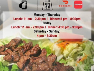 We open for delivery and carry out only!