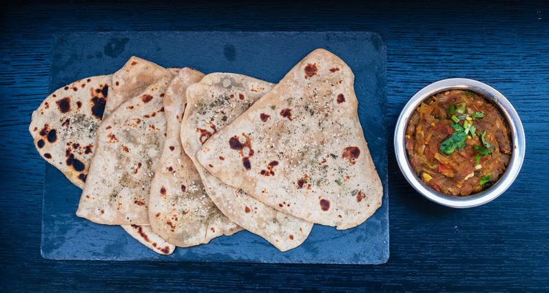 Baingan bhartha with chapati
