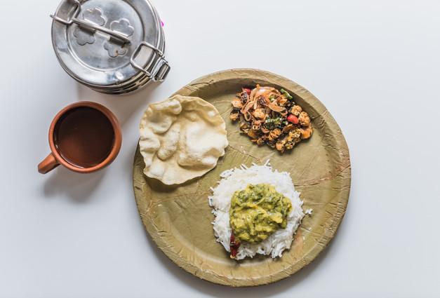 Andhra pappu with bhindi fry
