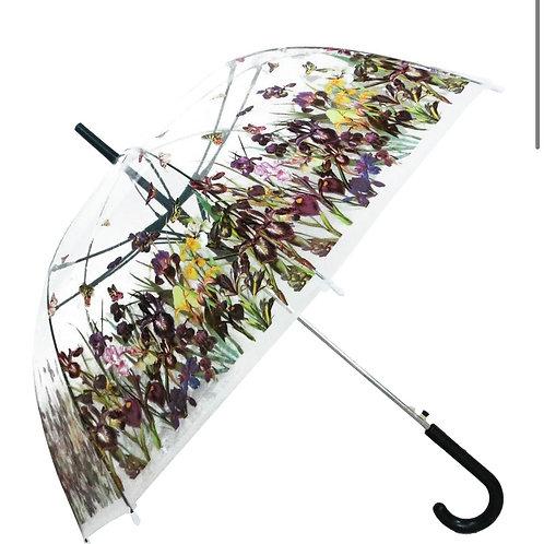 Iris Flower Field Umbrella