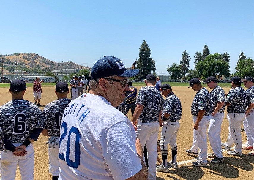 LAPD vs Pacoima Pirates baseball team ready to begin game