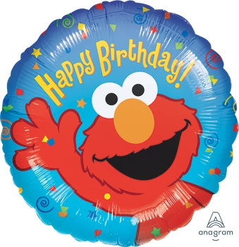 "18"" / 45cm Elmo Happy Birthday Foil Balloon"