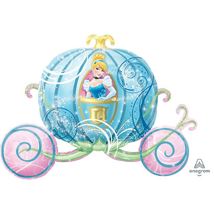 Supershape Cinderella Carriage Foil Balloon