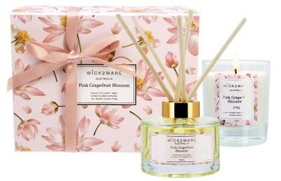 Water Mint Bamboo 210g Soy Candle & 150ml Diffuser Gift Set