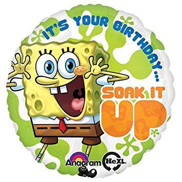 "18"" / 45cm Spongebob Squarepants Happy Birthday Foil Balloon"