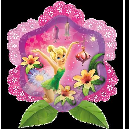 Supershape Tinkerbell Flower Foil Balloon
