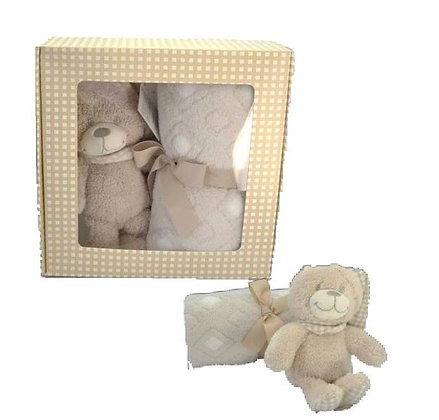 Beige Blankie Bear Gift Set - 15cm Bear