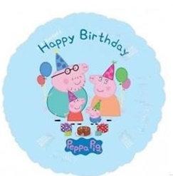 "18"" / 45cm Peppa Pig Happy Birthday Foil Balloon"