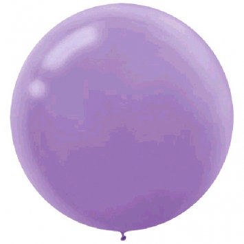 "Pack of 4 - 24"" Lavender Round Latex Balloon"