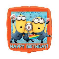 "18"" / 45cm Minions Happy Birthday Foil Balloon"