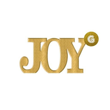 Glittered Gold 'Joy' Standing Sign