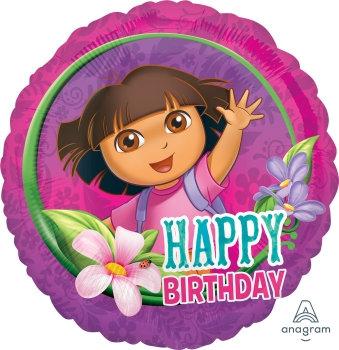 "18"" / 45cm Dora The Explorer Happy Birthday Foil Balloon"
