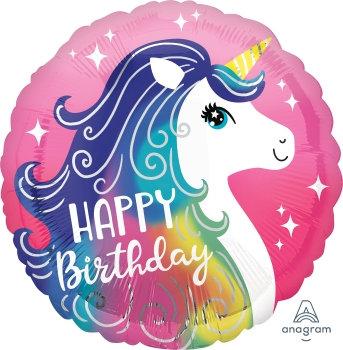 "18"" / 45cm Unicorn Happy Birthday Foil Balloon"