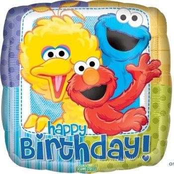 "18"" / 45cm Sesame St Happy Birthday Foil Balloon"
