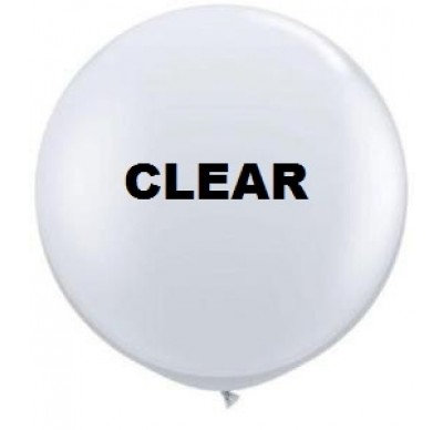 "Pack of 4 - 24"" Clear Round Latex Balloon"