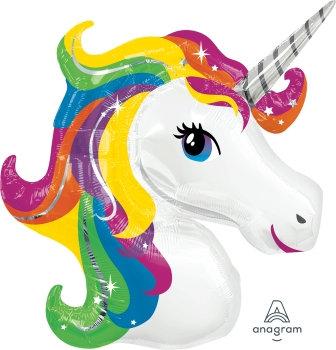Supershape Rainbow Unicorn Foil Balloon