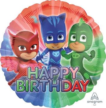 "18"" / 45cm PJ Mask Happy Birthday Foil Balloon"
