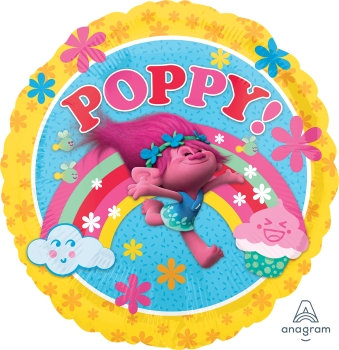 """18"""" / 45cm Poppy Trolls Foil Balloon"""
