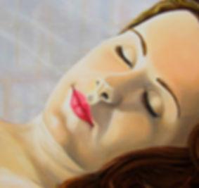 portrait de femme peinture huile