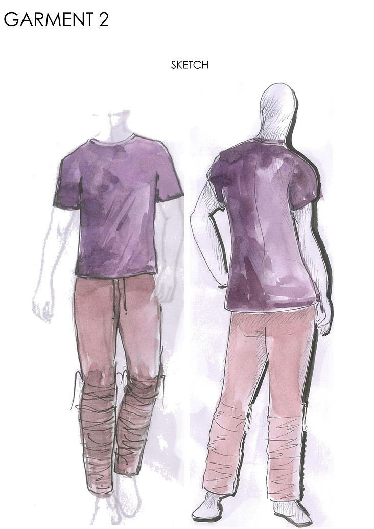 Sketch of 2nd garment
