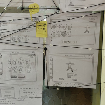 User Experience design using pen and pap