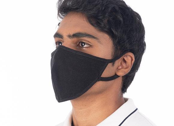 Antiviral double layer black mask