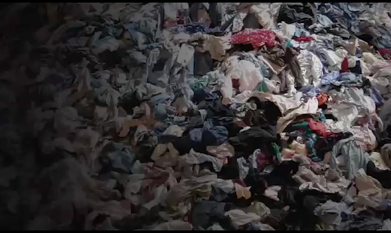 Recycling textile waste on massive scale