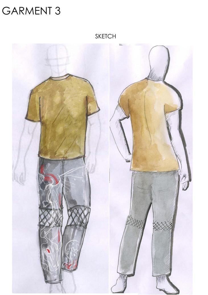 Sketch of 3rd garment